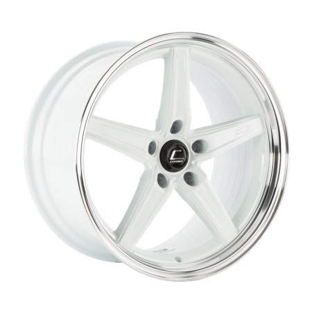 Cosmis R5 White with Machined Lip 18×9.5 +25 5×120