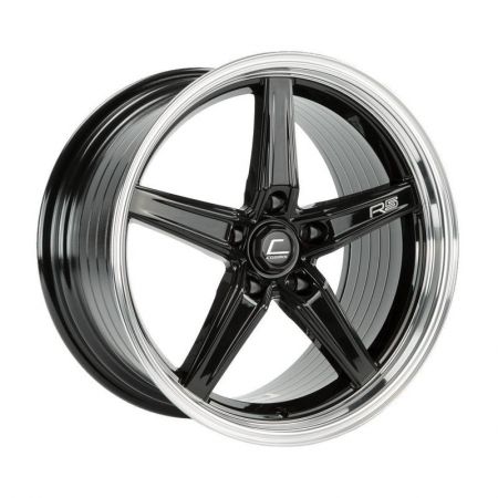 Cosmis R5 Black with Machined Lip 18×9.5 +25 5×120
