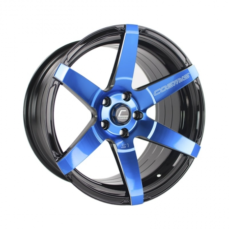 Cosmis S1 Black w/ Blue Face 18×9.5 +15mm 5×114.3