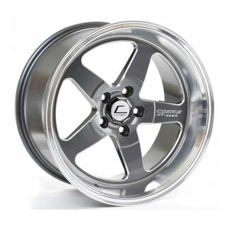 Cosmis XT005R Gunmetal with Machined Lip 18×10 +20 5×114.3