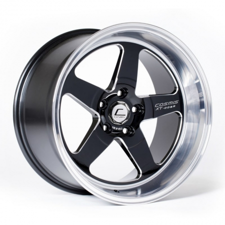 Cosmis XT005R Black with Machined Lip 18x9 +25 5x100