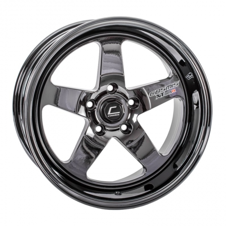 Cosmis XT005R Black Chrome 18x9 +25 5x114.3