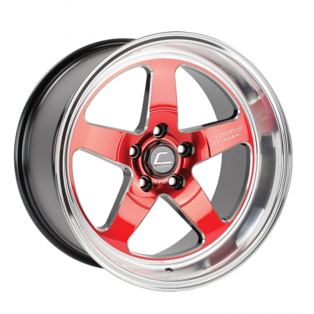 Cosmis XT005R Red with Machined Lip 18×9 +25 5×114.6