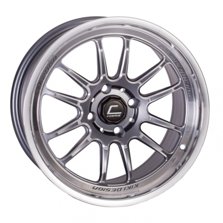 Cosmis XT206R Gunmetal with Machined Lip 15×8 +30 4×100