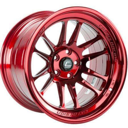 Cosmis XT206R Hyper Red 17×9 +5 5×114.3