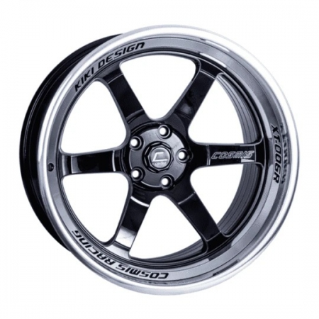 Cosmis XT006R Black with Machined Lip 20×9.5 +15 6×135